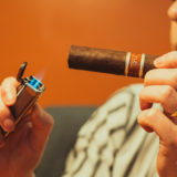 Lighting a Nub Sungrown 460 cigar