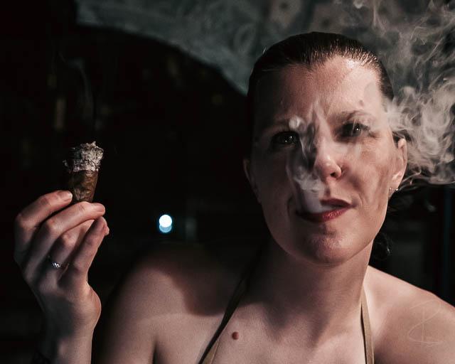 smoked the Asylum Schizo Hercule down to the nub