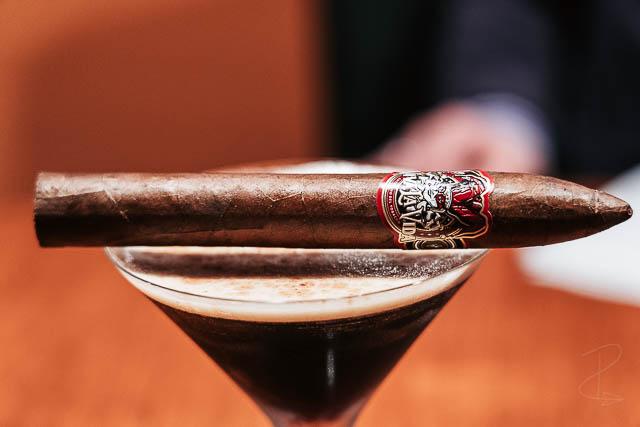 Viva la Vida Torpedo cigar and an espresso martini cocktail