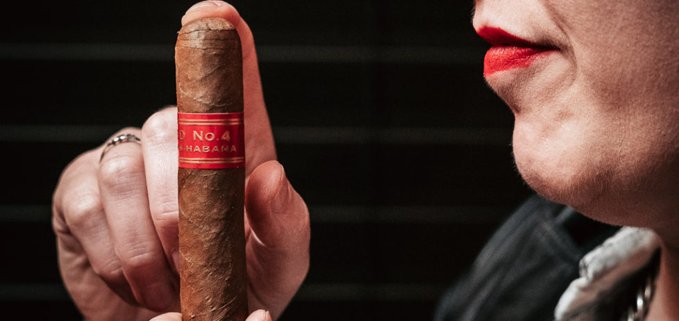 Partagas D4 cigar straight out of the humidor