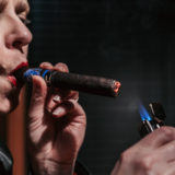 Lighting the Hiram and Solomon Master Mason cigar