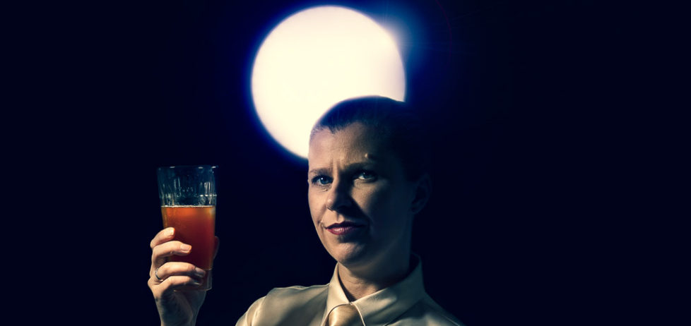 A 2001 cocktail being enjoyed by the light of a blue moon