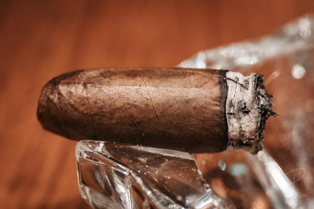 The nub of a Kafie 1901 San Jeronimo Torpedo cigar