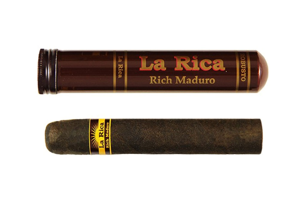 The La Rica Tubed Maduro Robusto makes it onto part three of my top budget cigars list