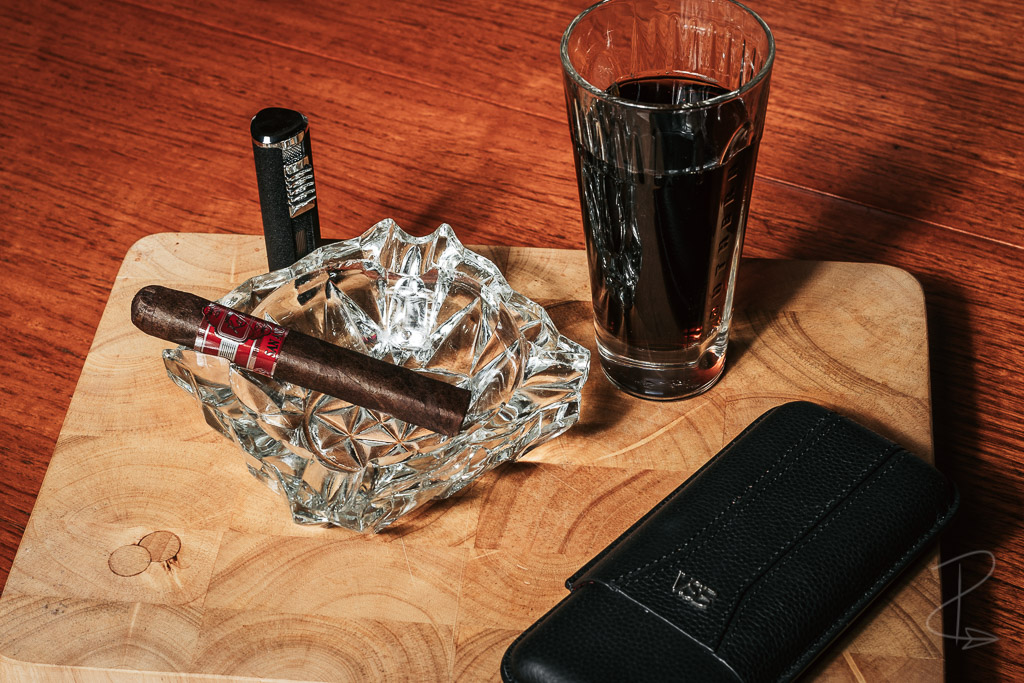 A Kafie 1901 San Andres Robusto Largo Cigar ready to by lit