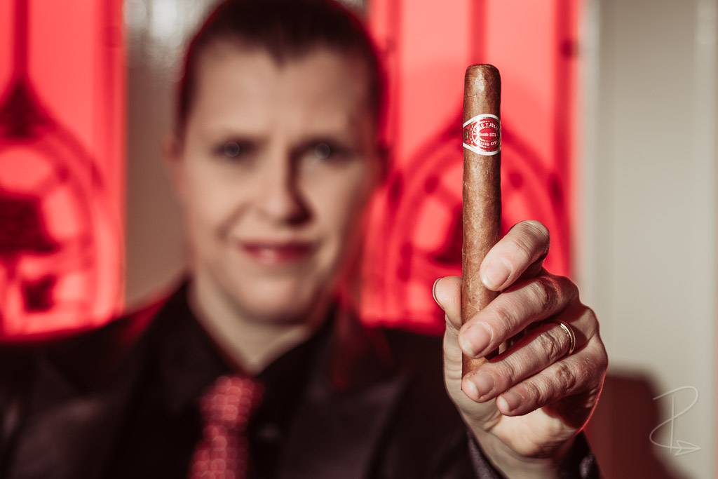 A Romeo y Julieta No. 1 Tubos cigar ready for lighting