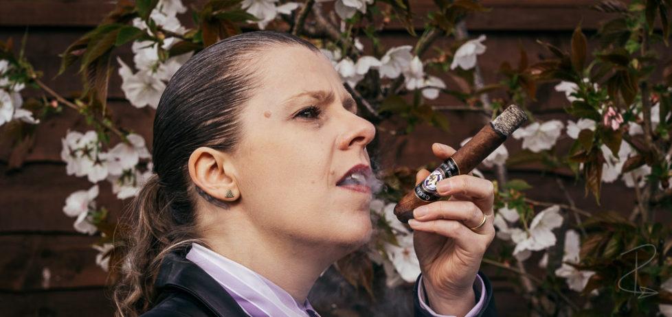 Enjoying the Hiram and Solomon Curamus Toro Cigar