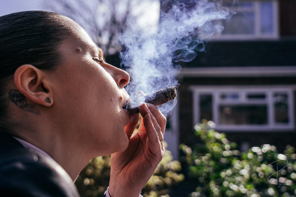 The thick and creamy smoke from the Hiram and Solomon Curamus Toro Cigar