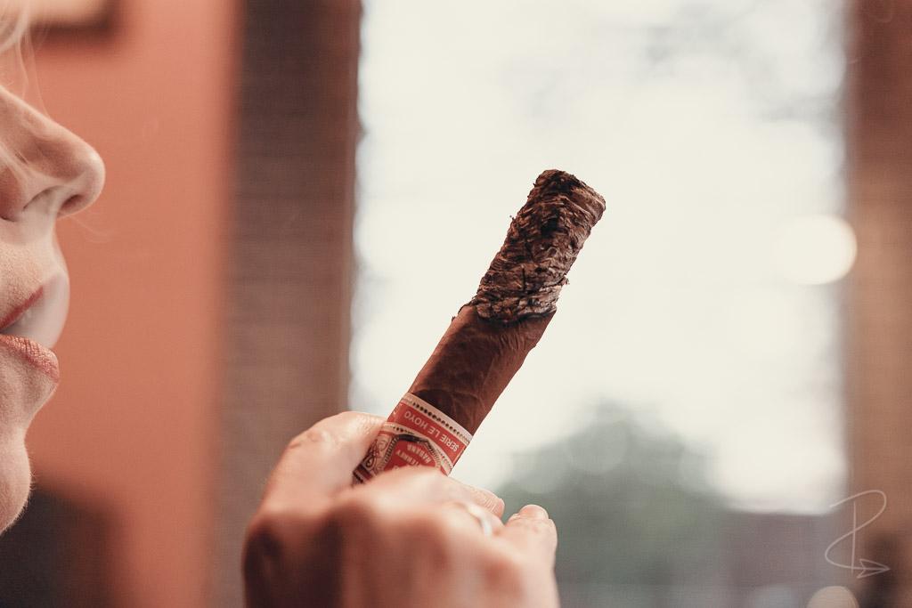 The bad burn I suffered on the Hoyo de Monterrey Le Hoyo Rio Seco cigar