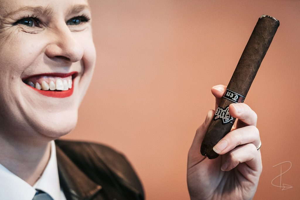 Enjoying good company with the Epic Ten cigar at a virtual tasting arranged by Boutique Smokes
