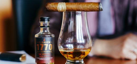 The Por Larranaga Petit Corona and Glasgow 1770 The Original whisky were the perfect pairing