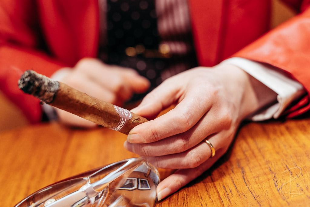 A good strong opening ash on the Sancho Panza Non Plus Petit Corona cigar