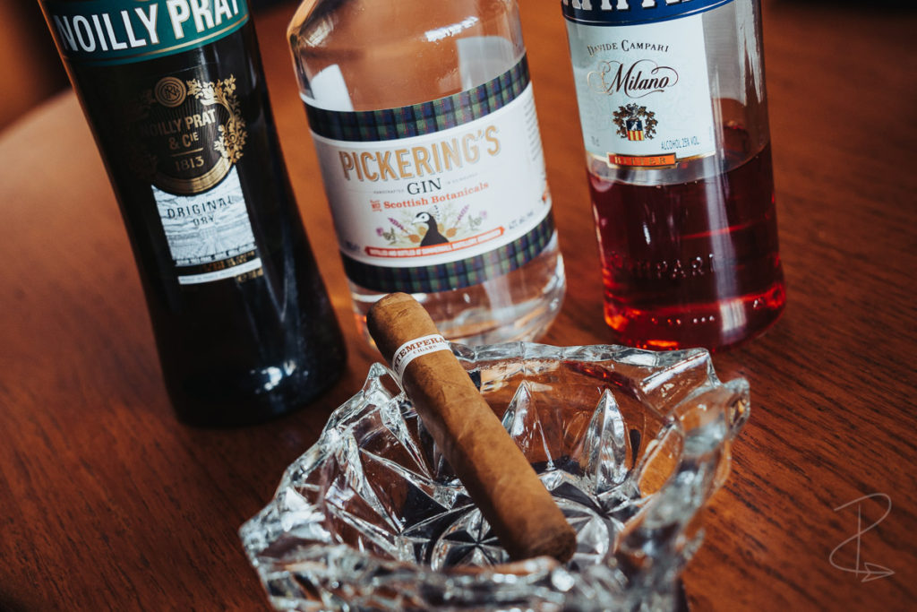 The ingredients for the cocktail I enjoyed with the RoMa Craft Intemperance EC XVIII Goodness LE cigar