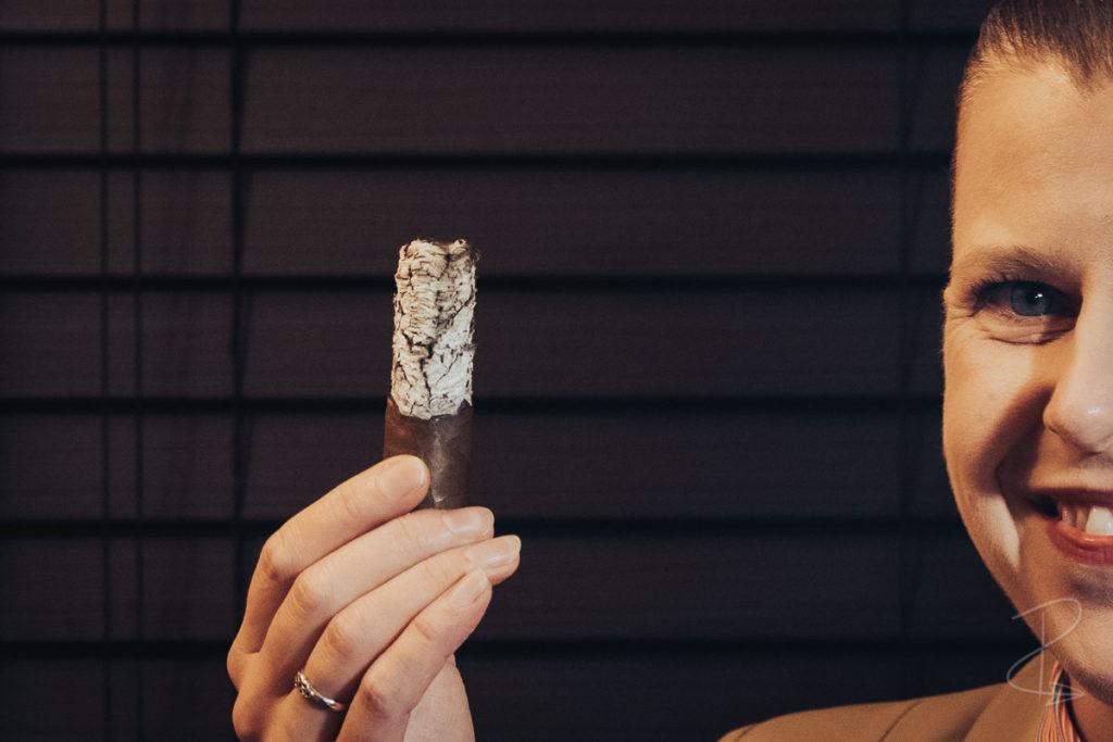 Excellent construction on the Vegas de Santiago D8 Corto cigar by Marc Niehaus