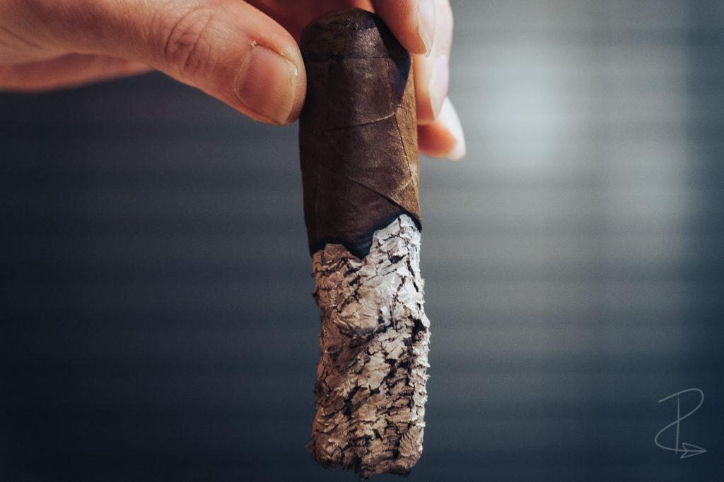 The amazing ash from the Vegas de Santiago D8 Corto cigar by Marc Niehaus
